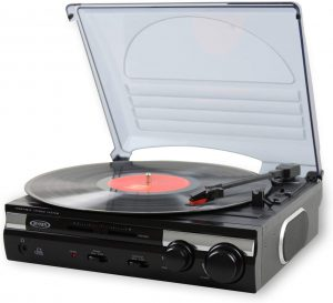 Jensen JTA-230 3-speed Stereo is a turnable playing device with stylish look.