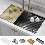 Kraus KWU110- 32 Single Bowl Steel Kitchen Sink