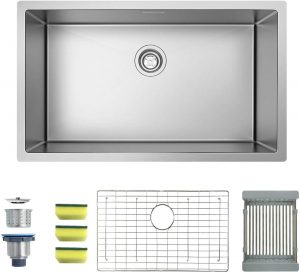 MENSARJOR Single Bowl Kitchen Sink, 30×18