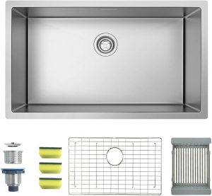 MENSARJOR Single Bowl Kitchen Sink, 32×19