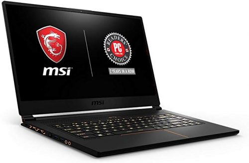 MSI GS65 is a think but powerful laptop designed for both professional work and gaming activity.