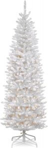 This is a 7 Foot Kingswood White Fir Pencil Tree which come with 300 Clear Lights.