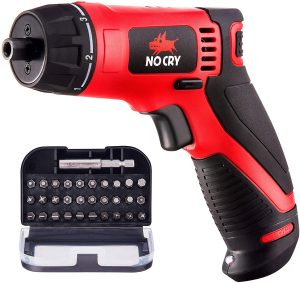 NoCry 10 N.m Cordless Electric Screwdriver - with 30 Screw Bits Set