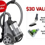 Ovente ST2620B Bagless Canister Cyclonic Vacuum – HEPA Filter – Includes