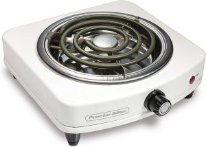 Proctor Silex 34103 Electric Single Burner, Compact and Portable, Adjustable Temperature Hot Plate