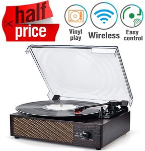 This is a record player from Wockoder brand for playing CD and other music formats.