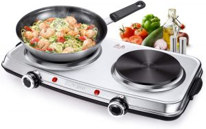 SUNAVO Hot Plates for Cooking 1800W Electric Double Burner