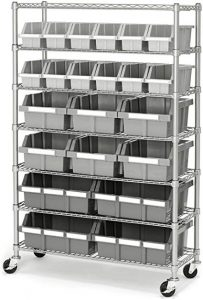 This seven-tier platinum rack storage can be used for home, commercial and office space.