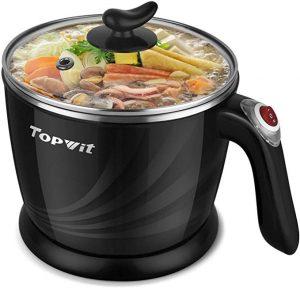 Topwit Electric Hot Pot Mini Electric Cooker