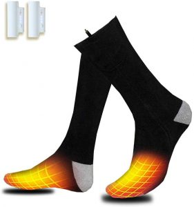 VALLEYWIND Heated Socks, Electric Sock Footwear with Pair Rehargeable Lithium Battery