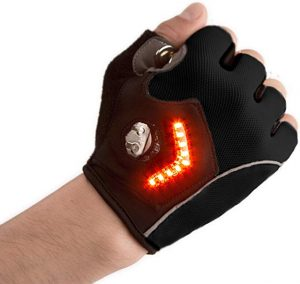 Zackees light signal gloves are best for biker, skater and pedestrians.