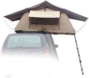 "Offroading Gear Rooftop Tent, 48"" x 84"" x 50"", Fits 2 People"