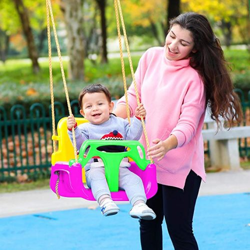 ANCHEER 3-in-1 Toddler Swing Seat Infants to Teens, Detachable Outdoor Toddlers Children Hanging Seat