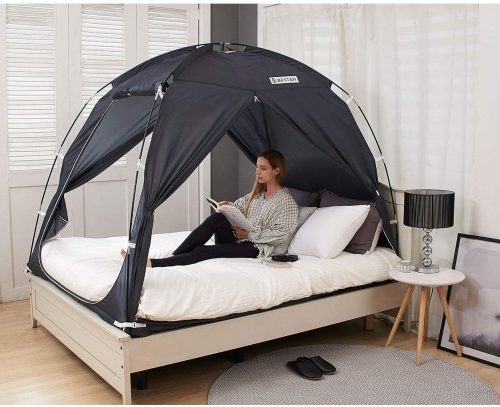 BESTEN Floorless Indoor Privacy Tent on Bed for Warm and Cozy Sleep Inside Drafty Room