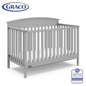 Graco Benton 4-in-1 Convertible Crib (Pebble Gray) – Easily Converts to Toddler Bed