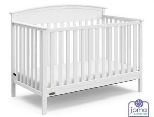 Graco Benton 4-in-1 Convertible Crib (White) – Easily Converts to Toddler Bed