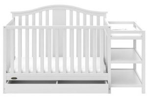 Graco Solano 4-in-1 Convertible Crib and Changer with Drawer White, Fixed Side Crib