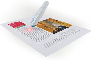 This is a pen scanner from iRispen Air to extract texts into your PC, Mac, Smartphone, Table and other devices instantly.