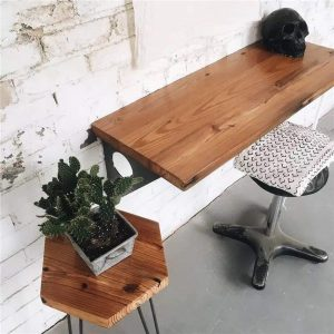 Industrial Rustic Wall-mounted Table, Dining Table Desk