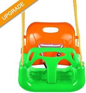 Jaketen 3-in-1 Toddler Swing Seat Hanging Swing Set for Playground Swing Set