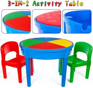 Kids 3-in-1 Multi Activity Table and Chairs Set | kids activity table and chair set