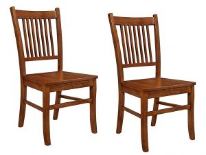 Marbrisa Slat Back Side Chairs Sienna Brown | Brown Wood Chairs for Dinning