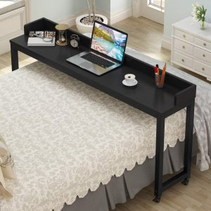 Overbed Table with Wheels, Tribesigns 70.8'' Queen Size Mobile Desk