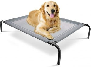 Paws & Pals Elevated Dog Bed - Steel Frame, Temp Control, Indestructible Chew-Proof Pet Cot