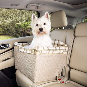 PetSafe Happy Ride Quilted Dog Safety Seat - Pet Booster Seat for Cars, Trucks and SUVs