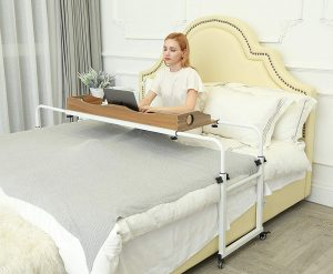 UNICOO laptop rolling table over bed