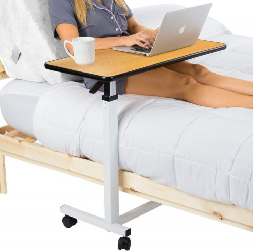 Vive Overbed Table (XL) - Hospital Bed Table - Swivel Wheel Rolling Tray
