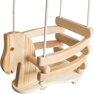 Wooden Horse Toddler Swing Set - Baby Swing Outdoor & Indoor