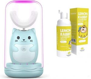 Automatic Electric Toothbrush for Kids with Hand Free Intelligent and 360° U Type