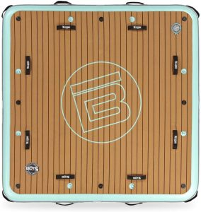 BOTE 7'x7' Inflatable Floating Dock for Lakes and Waterfront - Swim Platform - Water Island - Mat - Lily Pad Float