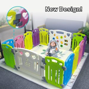 This Baby Playpen is suitable for active child who need a larger space to play in.