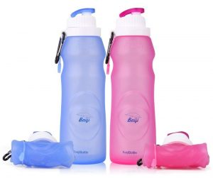 Baiji collapsible water bottle for sport, gym and travl.
