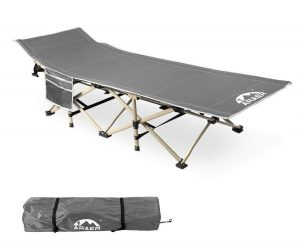 Camping Cot 450LBS (Max Load) | Portable Foldable Outdoor Bed with Carry Bag for Adults Kids | Heavy Duty Cot for Traveling Gear Supplier