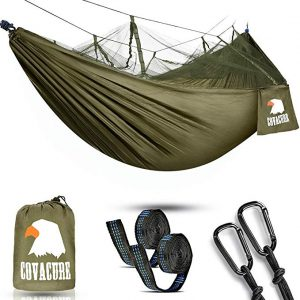 Portable Hammock with mosquito net for Indoor, Outdoor, Hiking, Camping, Backpacking, Travel, Backyard, Beach