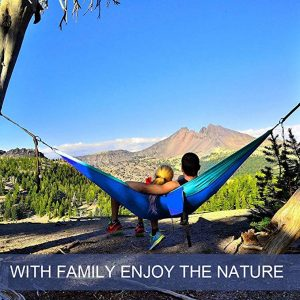 This is a Parachute Fabric Camping Hammock, a Portable Nylon Hammock for Backpacking Camping Travel