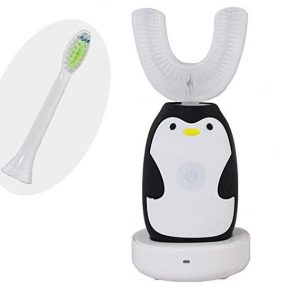Dobee Hand Free Smart Sonic Toothbrushes is a Portable Light-Weight U Type for Children