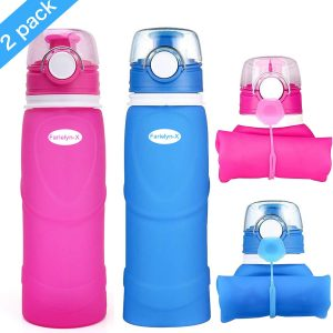 Farielyn-X Collapsible Water Bottle is foldable for easily store in your bag.