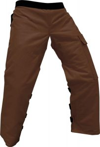 "Forester Chainsaw Apron Chaps with Pocket, Brown 37"" Length"