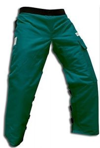 "Forester Chainsaw Safety Chaps with Pocket, Apron Style (Long 40"", Forest Green)"