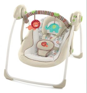 ingenuity baby swing Portable | Wind Up Baby Swing & Compact Baby Swing for Bringing Along.