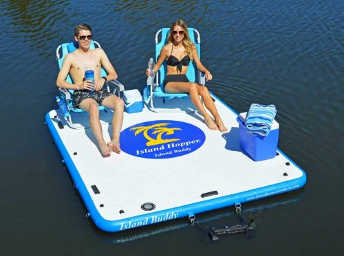 Island Hopper Island Buddy Inflatable Swimming Water Platform