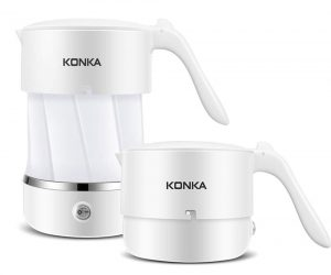 Konika is a Portable and Collapsible Electric Kettle for flexible use