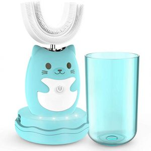 Toddler Sonic Automatic Toothbrush With Sensitive U-shape Brush Head