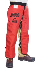 "LABONVILLE Fire Resistant Chainsaw Chaps - Overall Length 32"" Made in USA"