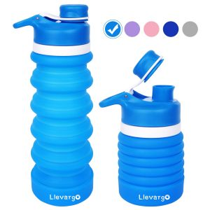 Llevargo Collapsible Water Bottle is a folding travel bottle for daily commute and trip