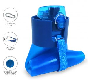 Makooz Collapsible Water Bottle for traveling and daily commuting.
